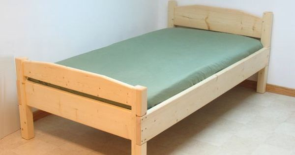 Detailed plans for simple twin size bed based on 2x4 woodworking diy furniture building - Simple twin bed frame plans ...