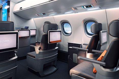 Priestmangoode Airline Interior For Embraer Plane Design Aircraft Interiors Airplane Interior