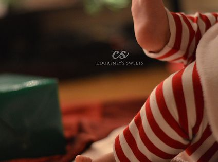 Sweet Baby's First Christmas *photo shoot* *** Baby feet are so adorable!***