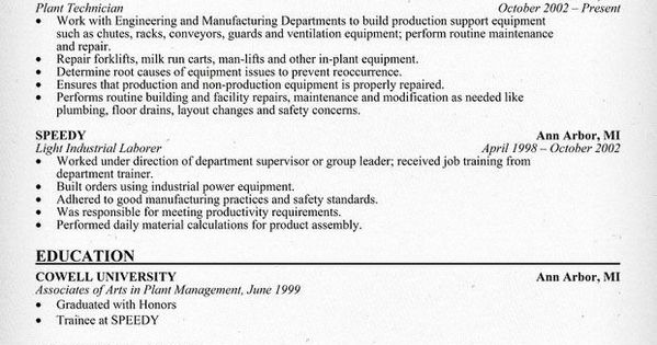 Apartment Maintenance Technician Resume Lovely Maintenance Technician Resume Sample Resume Panion In 2020 Job Resume Samples Administrative Assistant Resume Resume
