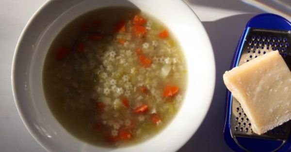 vegetable & stelline soup | yummy | Pinterest | Simple, Italian soup ...