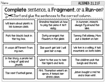 23+ Ideal sentence fragment worksheets with info