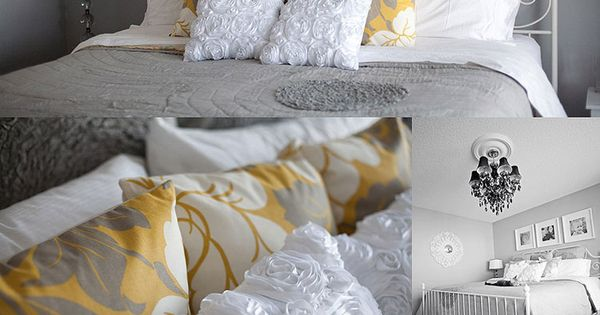 Grey And Yellow Bedroom Ideas | Who I Share It With: Master