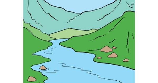 How To Draw A River Really Easy Drawing Tutorial Drawing Tutorial Easy Easy Drawings Drawing Tutorial