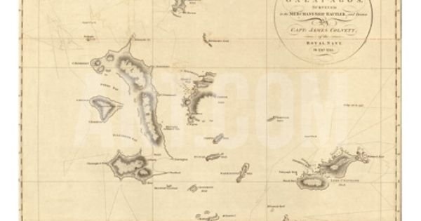 1798 Map Of The Galapagos Islands In The Pacific Ocean