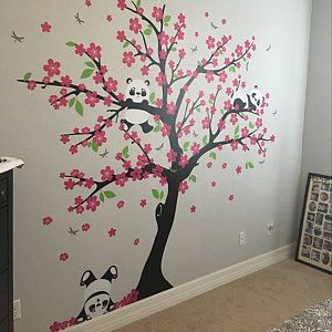 Cerezos Wall Painting Decor Stencils Wall Asian Home Decor