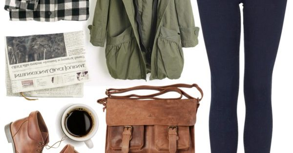 Perfect casual fall outfit. Via Polyvore, featuring: Woolrich, Topshop, Polder, Madewell and