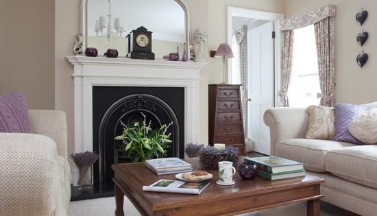 Neutral Period Living Room Traditional Design Living