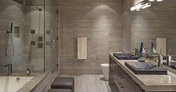 Image salle de bain l 39 ambiance naturelle s invite dans la for Modele salle de bain contemporaine