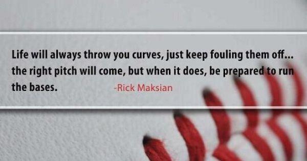 When life throws you curve balls...