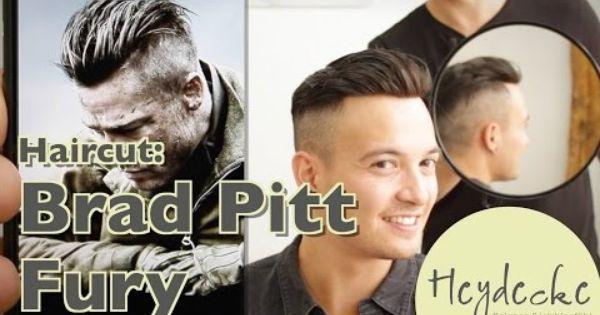 Brad Pitt Fury Frisur Haarschnitt Undercut Haircut Extreme Mit Haarteil Frisuren Haarschnitte Frisuren Haarschnitt
