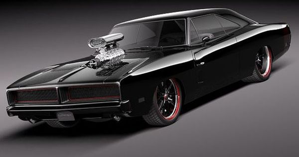 1969 Black Dodge Charger...