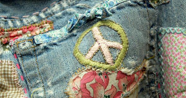 Peace jean shorts