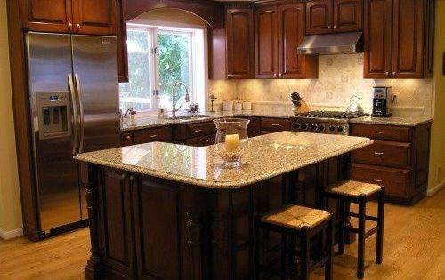 12x12 Kitchen Design Ideas Love The Layout And L Shaped Island Kitchen Pinterest