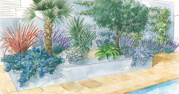 Quel jardin m diterran en pour ma piscine - Decoration autour d une piscine ...