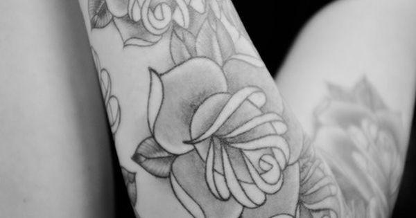 Black & White Rose Tattoo