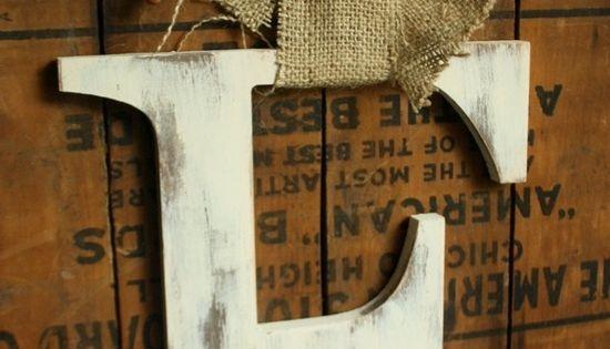 Autumn large letter Door Hanger Fall decor- front door