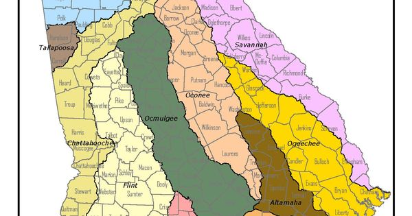 Fourteen river basins/watersheds lie within Georgia's ...