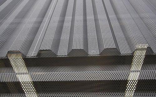 Metal Buildings And Details Perforated Metal Metal Facade Corrugated Metal