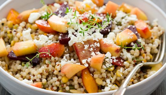 Peach & Roasted Veggie Salad / from love & olive oil -over
