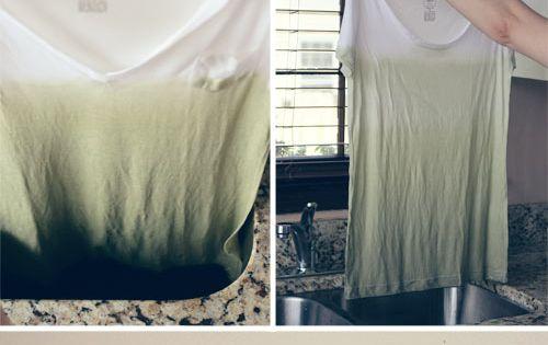 Dip dyed t-shirt diy shirt customizo tshirt