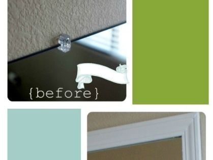 Frame Your Mirror That Has Plastic Clips Washers The Plastics And Frame Bathroom Mirrors