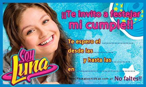Click Aquí Para Imprimir La Invitación De Soy Luna