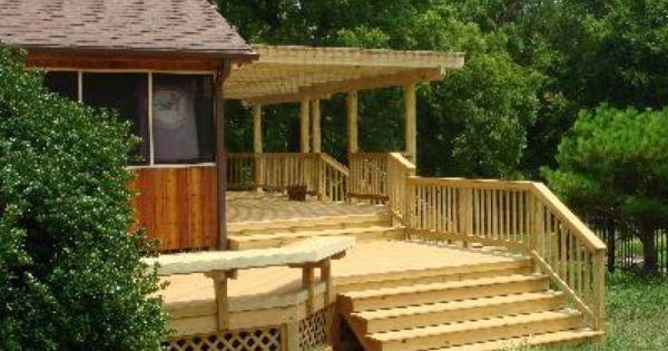 Bench Deck Pergola Pressure Treated Custom Wood Deck
