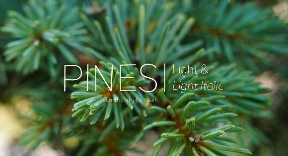 Pines Light & Pines Light Italic by Piñata