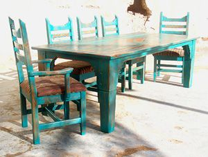 Southwest Color Table Patio Dining Furniture Outdoor Dining