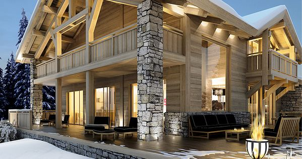 Chalet auron studio guilhem architecture d 39 int rieur for Innendekoration chalet