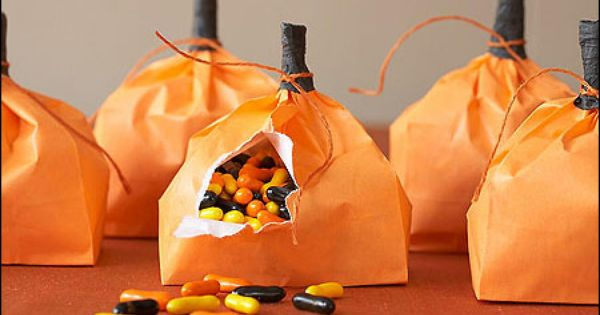 pumpkin candy bags