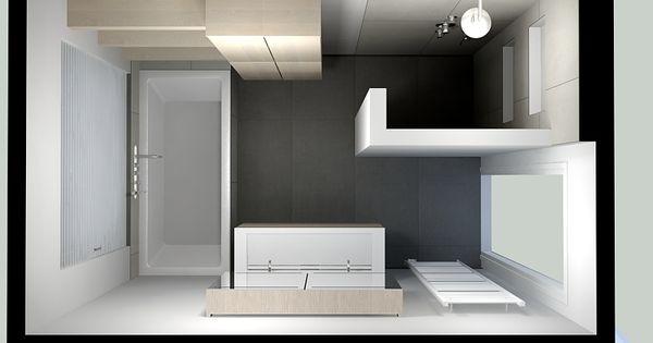 Een lichte badkamer krijgt direct een ruimtelijke uitstraling er ontstaat bovendien rust meer - Badkamer in een kamer ...