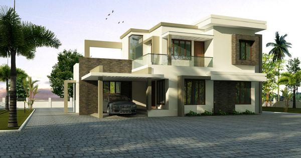 Forms4 Cochin Luxury Villa 4 Bedroom Idea Flat Roof House House Roof Kerala House Design