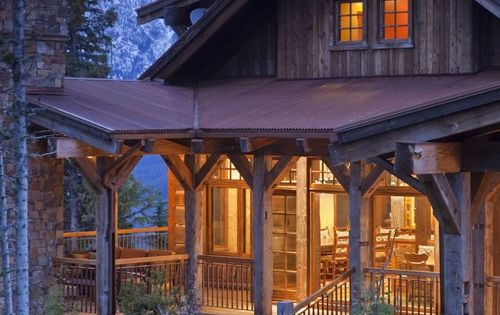 Rustic cabin. Love the porch. Amy's country log cabin dream house!