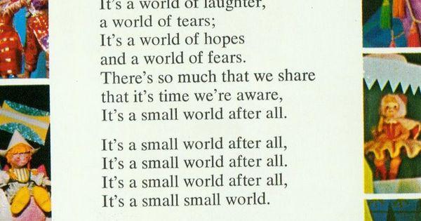 It's A Small World After All Lyrics Chords - Chordify