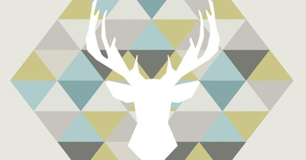 affiche scandinave cerf origami pastel d coration int rieure illustration vectorielle. Black Bedroom Furniture Sets. Home Design Ideas