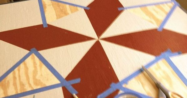 Painting a barn quilt for your garden shed barn quilts for Garden shed quilting