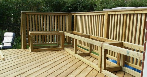 Building a wooden deck over a concrete one storage for Wood deck plans pdf