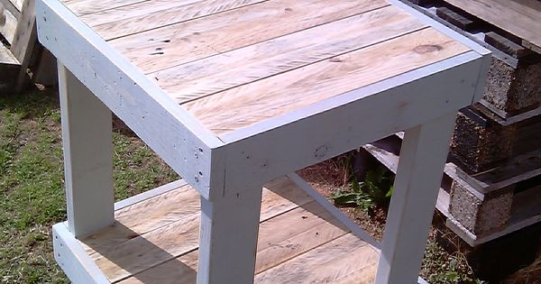 Recycling Pallet Wood Tall Table No 2 Pallet Project