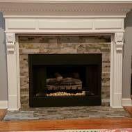6 X 24 Natural Stone Peel Stick Mosaic Tile Wood Fireplace Surrounds Fireplace Mantel Surrounds Mosaic Tiles