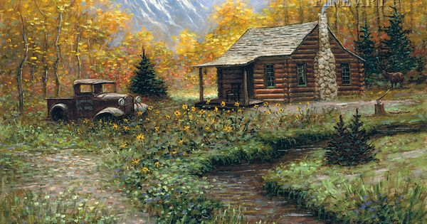 Paintiings of log cabins google search paintings for Piccole cabine rustiche