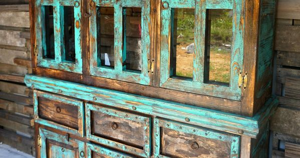 San Antonio Rustic Hutch Western homes Furniture and Retail