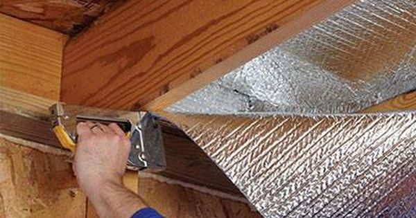 Ceiling Insulation By Installing Ceiling Insulation You Create Another Barrier And Keep Heat Indoors During The Wi Roll Insulation Insulation Radiant Barrier
