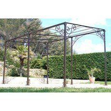 Pergola Autoportante Fer Forge Rouille 12 M With Images
