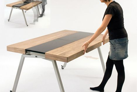 Expanding Kitchen Island Concept Creative Furniture Pinterest Kitchens Expandable Dining