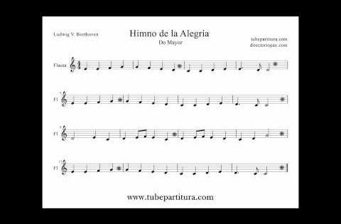 Himno De La Alegria De Beethoven Partitura Muy Facil Para Piano Ode Of Joy Piano Sheet Music Easy Piano Oboe Sheet Music