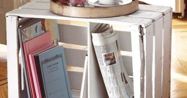Diy ideas painted crate coffee table home sweet for Painted crate ideas