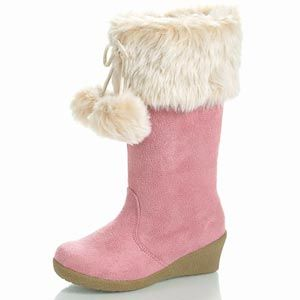 Girls Pink Boots Toddler/Childrens
