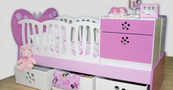 Foto hermosa cama cuna detallada con cabecera de mariposa for Booh muebles